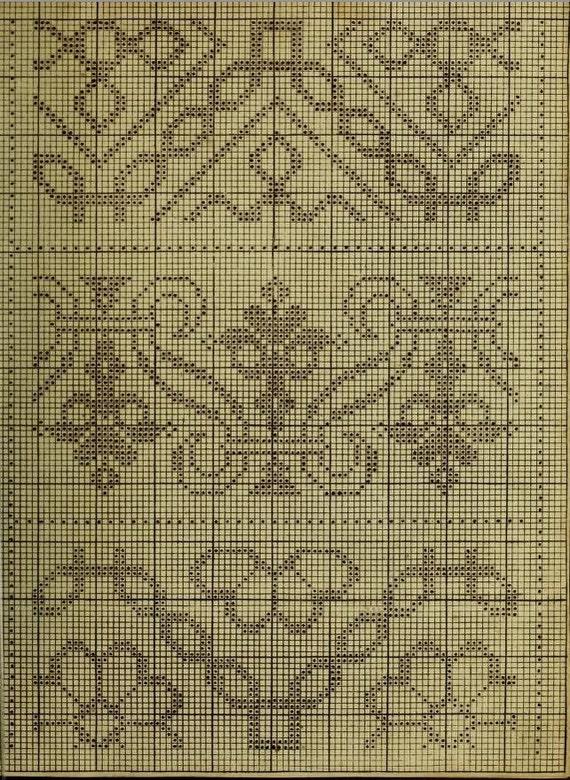 E Book 1730 Cross Stitch Amp Embroidery Patterns Rare Pdf