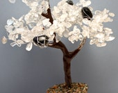 Crystal Quartz Black Tourmaline Tree