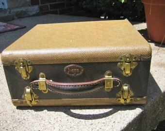 Vintage Baja Slide Case Double Sided Storage Leather Handle