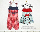 Girls Romper pattern, Girls sewing pattern PDF, Childrens sewing pattern,  pants pattern, shorts sewing pattern, clothing pattern STARLING