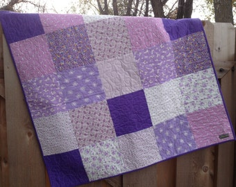 Baby Quilt - Shades of Purple
