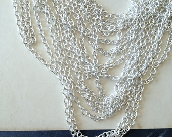 Silver Cable Chain, Light Weight Chain, Small Basic Chain, 4mm, 3Ft