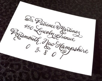 PATIENCE : Custom Wedding Calligraphy Envelope Addressing Burgues