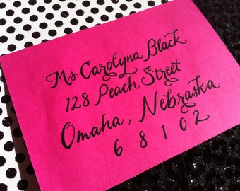 CAROLYNA : Custom Wedding Calligraphy Envelope Addressing Script