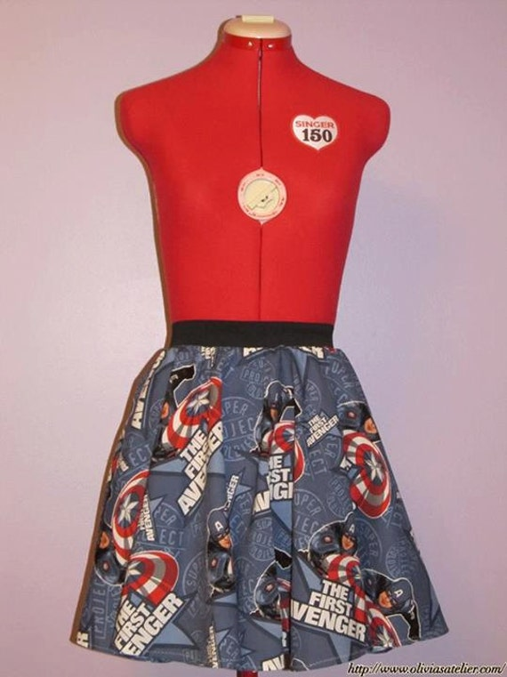 Captain America Super Soldier Skirt - Size Medium (Now with POCKETS)