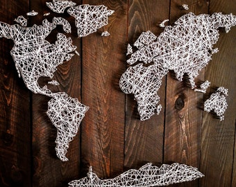 String art globe  Etsy