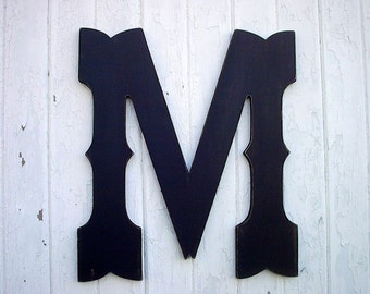 Wooden Letters 24 inch Black Shabby Rustic Wedding Guestbook Western Cowboy Style chic Gift Cabin Decor