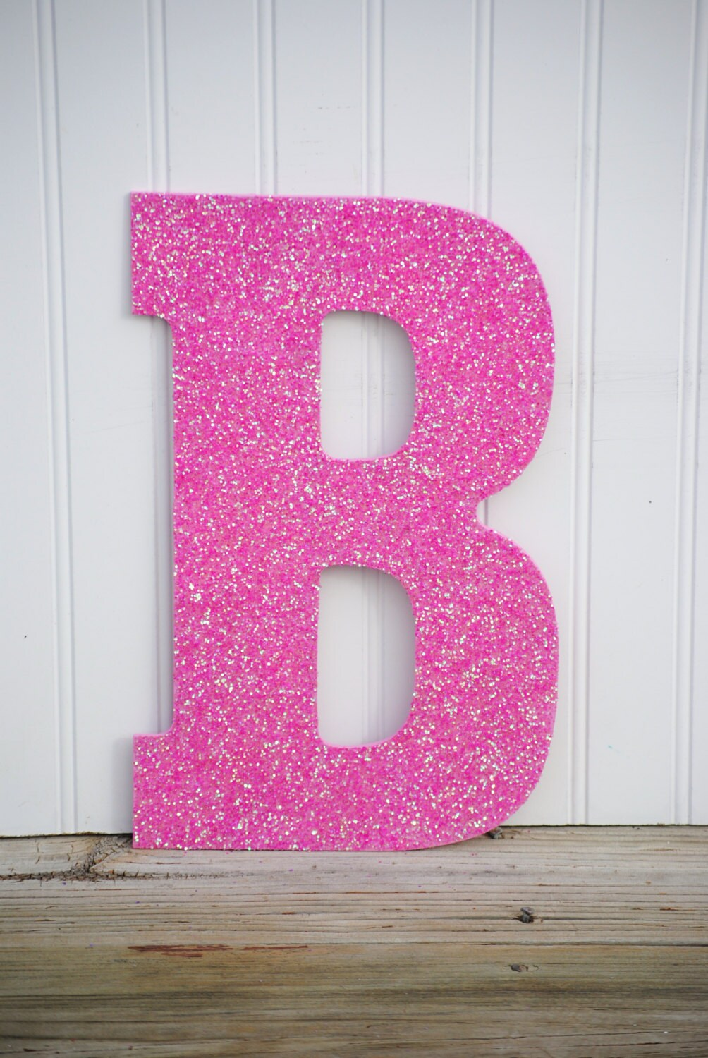 Decorative 13 Pink Glitter Wall Letters Girls Bedroom