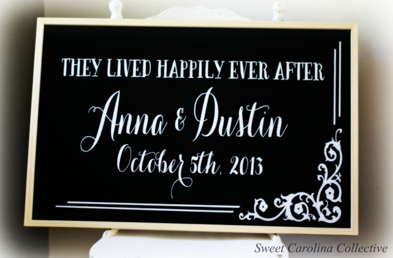 Framed Chalkboard Wedding Sign - Chalkboard Wedding Menu - Large Wedding Sign CB-2