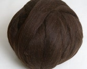 100g* Black *Professionally COMBED SHETLAND FLEECE* Top Quality.Natural.wool.tops.roving.pure.british.scottish.uk.Sheep breeds.felting.brown