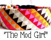 "Mod Geometric Dog Collar ""The Mod Girl"""