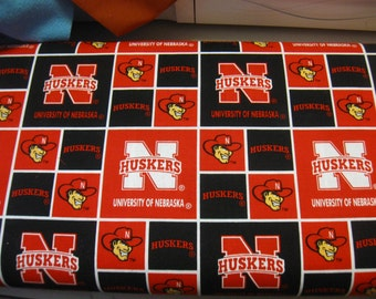 University of Nebraska  Fabric Sold by the HALF 1/2 yard from the bolt New