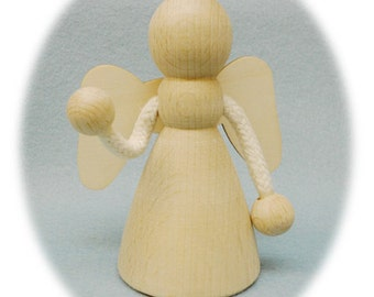 Wood Winged Doll Body Waldorf Style
