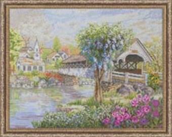 Cross Stitch Kit - Covered Bridge