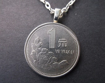 China Zhongguo Yinhand Coin Necklace -China Yinhand Coin Pendant with Bail and Chain