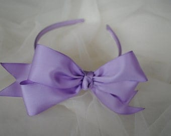 Purple headband, lavender headband