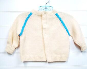Hand Knit Baby Boy Clothes, Baby Boy Sweater. Baby Boy Cardigan