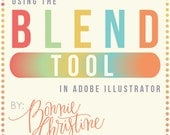 using the blend tool in adobe illustrator