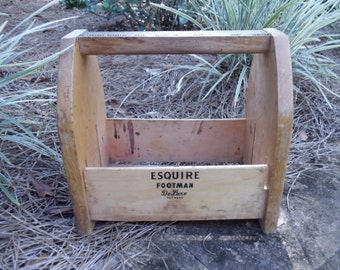 Wood Shoe Shine Box