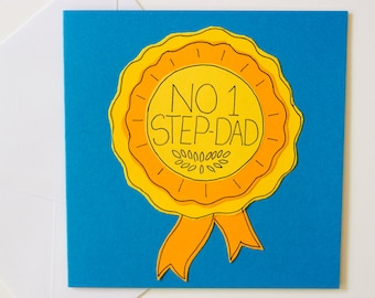 Step-Dad Greeting Card, No 1 Step-Dad, Birthday Card, Father's Day Card for a Step Dad, New Stepdad greeting card, Stepdad Father's Day card
