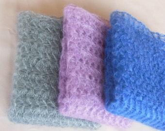 Lace mohair wrap Newborn photo prop Stretch Lace Wrap