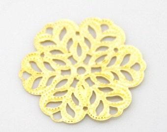 48 pcs of iron filigree charm 27mm-1597-Gold