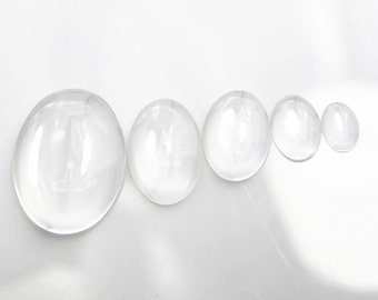 24  pcs  of  clear glass dome blank cabochon-8500-18x25mm