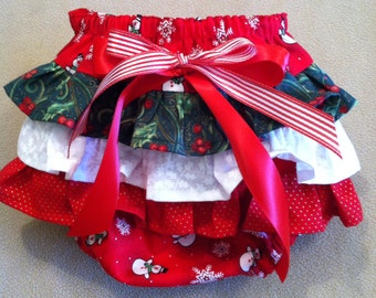 Holly Jolly Ruffle Bottom Diaper Cover