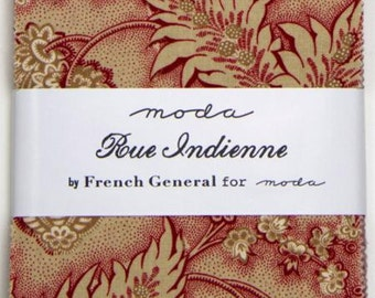 Rue Indienne Charm Pack by French General for Moda
