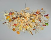 Champagne color flowers and leaves Chandelier for dinning room, living room or bedroom