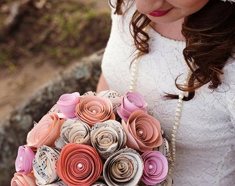 CUSTOM Music Page and Coloured Rose Bouquet