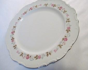 Vintage Bristol China Spring Garden Round Serving Plate