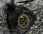 Hannibal necklace – This Is My Design – bronze tone cameo pendant – Save Will Graham – jewellery / jewelry