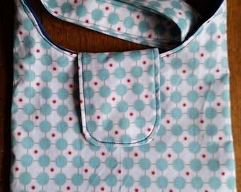 Riley Blake Spots 10x8 inch slouch bag