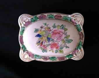 1945-1952 Andrea by Sadek Hand Painted Trinket Box Made in Occupied Japan