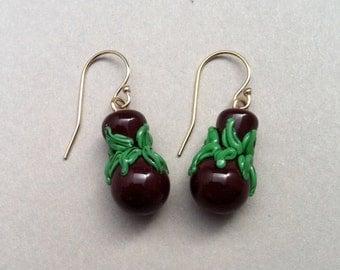 Handmade Lampwork Glass Ipu Earrings