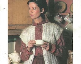 Open stitch knitted Vest - pdf pattern