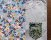 Kim's Floral Paige's Pocket Tee Shirt