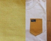 Mustard Yellow Print Pocket Tee