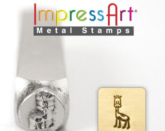 Gerry Giraffe Metal Design Stamp- Elephant Metal Stamp- 6MM-  Metal Stamping and Jewelry Design Metal Work-  SGSC1513-H-6mm