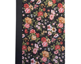Black Floral Pattern Folio Case For The iPad Mini