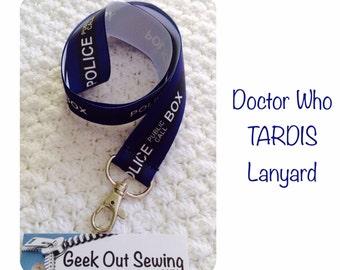 Doctor Who Tardis Police Box Lanyard