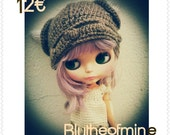 cute viking hat for Blythe