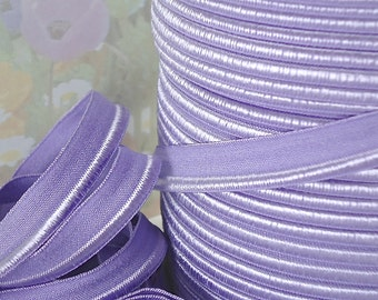 5yds Elastic cord Ribbon Piping Purple lip cord 1/2 inch Light Purple Elastic Sewing Trim Pillow piping ppl