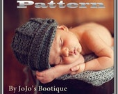 PDF Newsboy Hat PATTERN - Baby Newsboy Hat - Crochet Pattern - Boy Hat Pattern - Crochet Newsboy Hat Tutorial - by JoJosBootique