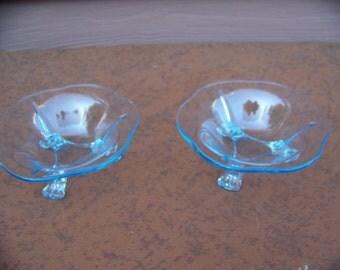 Fosteria Fairfax blue glass dishes