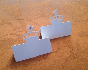 Crown with Cross place card setting