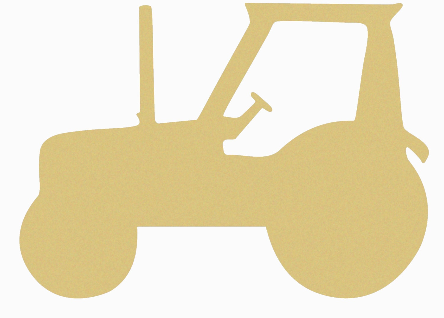 John Deere Tractor Cutouts : Tractor unfinished wooden craft shape do it yourself from