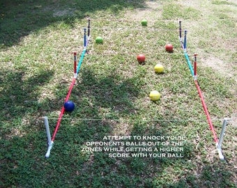 Bocce ball shuffleboard-2 games in 1-an addicting lawn game-fun for all ages-great for parties,events,camping,tailgate,home-up to 4 players