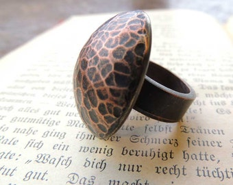 statement ring, copper ring, handmade hammered copper, ring copper, Copper ring, hammered copper, stacking ring, copper jewelry, armor ring